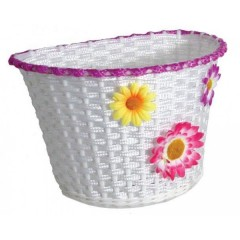 Action Large Plastic Basket With Flowers