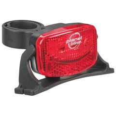 Planet Bike 3 Led Tail Light With Helmet Mount