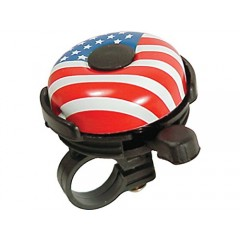 Bicycle Bell Action USA FLAG Painted