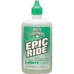 White Lightning Epic Ride Lube, 4oz Drip