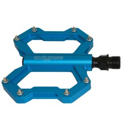 Eclypse Cutting Blade 9/16 inch BMX/Platform Bicycle Pedal - Pair (Blue)
