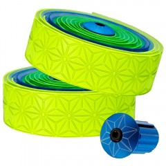 Supacaz Super Sticky Kush Bar Tape Neon Green Blue Yellow