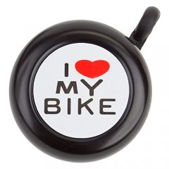 I Love My Bike Bicycle Bell Black