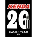 Kenda Bicycle Inner Tube 26 X 1.50-1.75-1.95 Schrader Valve